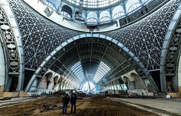 Реставрационные работы в павильоне №32-34  «Космос/Машиностроение»
