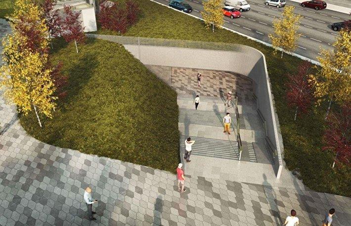 Проект реконструкции подземного перехода в Зарядье