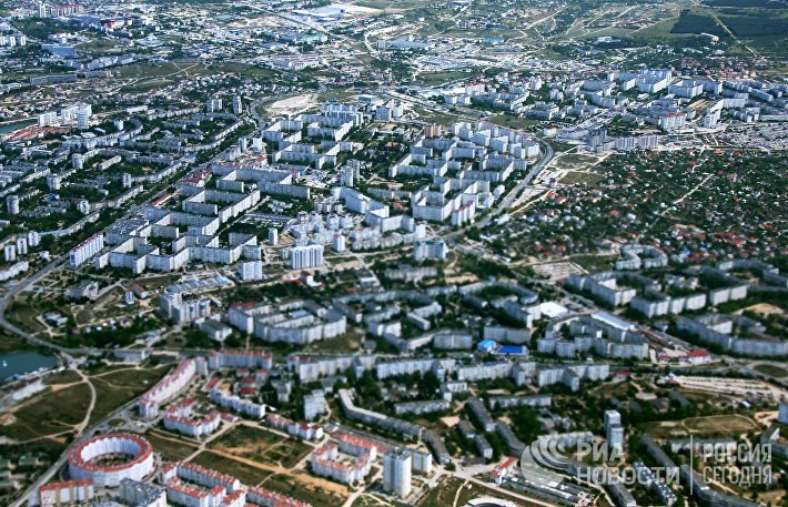 Вид на Севастополь из окна самолёта
