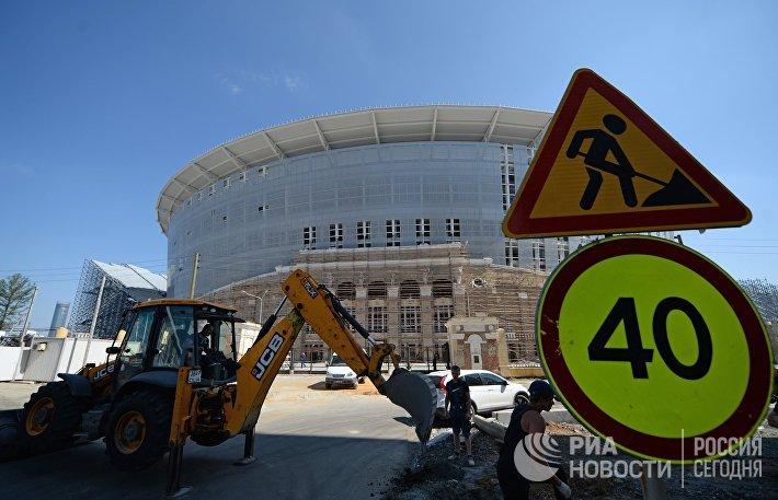 Реконструкция Центрального стадиона в Екатеринбурге к ЧМ-2018