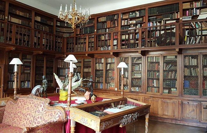 Библиотека замка Лоучень